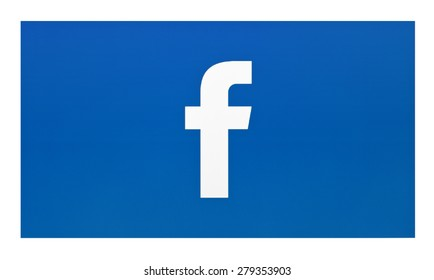 KIEV, UKRAINE - MAY 19, 2015: Facebook like logo for e-business, web sites, mobile applications, banners  on pc screen.  Facebook one of the largest social networks in the world.