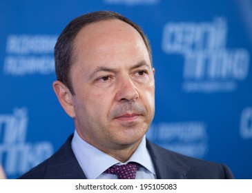 KIEV, UKRAINE - MAY 25, 2014: Ukrainian policy. Sergey Tigipko at a press conference devoted to the early presidential elections in Ukraine