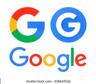 Kiev, Ukraine - May 30, 2016: Collection of Google logos printed on white paper. Google is USA multinational corporation.