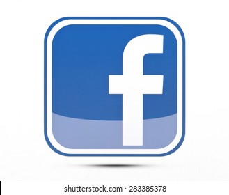 KIEV, UKRAINE - MAY 31, 2015: Facebook like logo for e-business, web sites, mobile applications, banners, printed on paper and placed on white background. Social network facebook sign on pc sign.