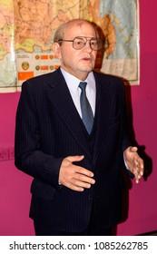 KIEV, UKRAINE - MAY 7, 2018: Mikhail Sergeyevich Gorbachev, the last president of the USSR,  General Secretary of the Communist Party of the Soviet Union. Wax mueum in Kiev.
