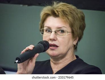 KIEV, UKRAINE - November 14, 2014: Natalia Nowak, deputy of the Verkhovna Rada of Ukraine, the Party Punch