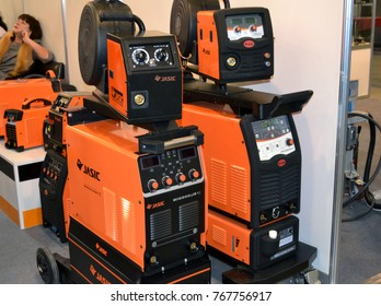 Kiev, Ukraine - November 23, 2017:-Industrial machinery, production aggregation and equipment mechanical automaton facilities, machine tools and lathes. Industrial technologies, production processes.