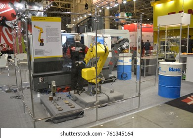 Kiev, Ukraine - November 25, 2016: - industrial machinery, Industrial equipment, industry facilities and machine tools, machinery lathes