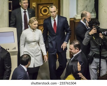 KIEV, UKRAINE - November 27, 2014: Yulia Tymoshenko led faction of the party Fatherland