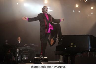 KIEV, UKRAINE - NOVEMBER 8: Singer Elton John performs onstage at Sport Palace on November 8, 2011 in Kiev, Ukraine
