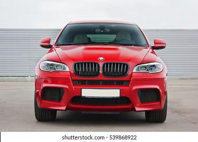 Kiev, Ukraine; October 17, 2016; BMW X6 M. Editorial photo.