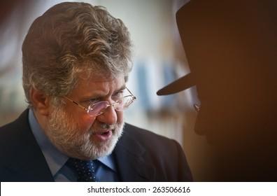 KIEV, UKRAINE - OCTOBER, 4, 2011: Ihor Kolomoisky during the 6th Congress of the United Jewish Community of Ukraine