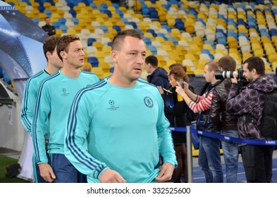 KIEV, UKRAINE - OKT 20: John Terry during the UEFA Champions League match between Dinamo Kiev vs Chelsea (London, England), 20 October 2015, Olympic NSC, Ukraine