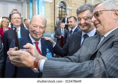 KIEV, UKRAINE - Sep 11, 2015: President of Ukraine Petro Poroshenko at the 12th Annual Meeting of Yalta European Strategy (YES)