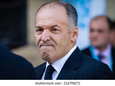 KIEV, UKRAINE - Sep 12, 2014: Ukrainian businessman and philanthropist Victor Pinchuk at the opening of the 11th Annual Meeting of Yalta European Strategy (YES)