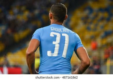 Kiev, UKRAINE - SEP 13, 2016: Faouzi Ghoulam during the UEFA Champions League match between Dynamo Kiev vs SSC Napoli, NSC Olympic stadium, 13 September 2016, Ukraine