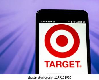 KIEV, UKRAINE Sept 13, 2018: Target Corporation logo seen displayed on smart phone