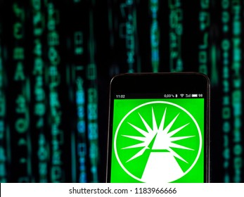 KIEV, UKRAINE Sept 13, 2018: Fidelity Investments Financial services company logo seen displayed on smart phone. Fidelity Investments Inc., is a multinational financial services corporation