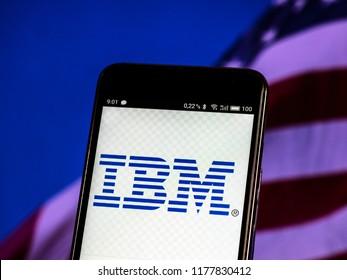 KIEV, UKRAINE - September 12, 2018: IBM logo seen displayed on smart phone
