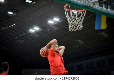 KIEV, UKRAINE - September 14, 2018: Spain Player during the FIBA Basketball World Cup 2019 European Qualifiers between the national team of Ukraine and Spain, Ukraine
