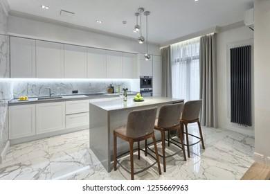 Kiev, Ukraine - september 18, 2018: Modern kitchen interior