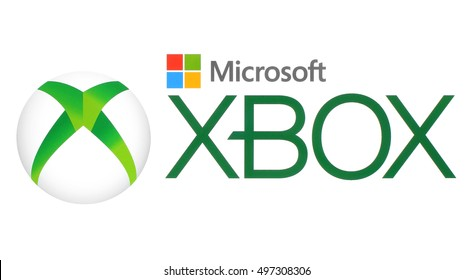 Kiev, Ukraine - September 20, 2016: Collection of popular technology logos: Microsoft and XBox logos printed on white paper