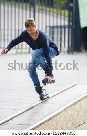 38ddd6e5e80 KIEV 24 JUNE 2018 Young Skater Boy Grinds Stock Photo (Edit Now ...