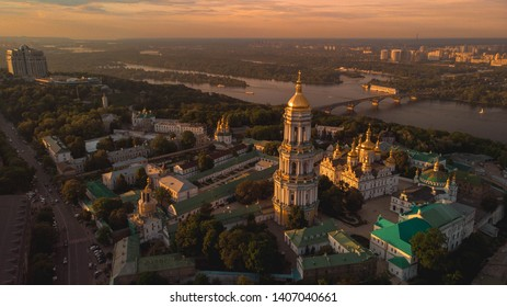 Kiev-Pechersk Lavra at sunset, Kiev, Ukraine