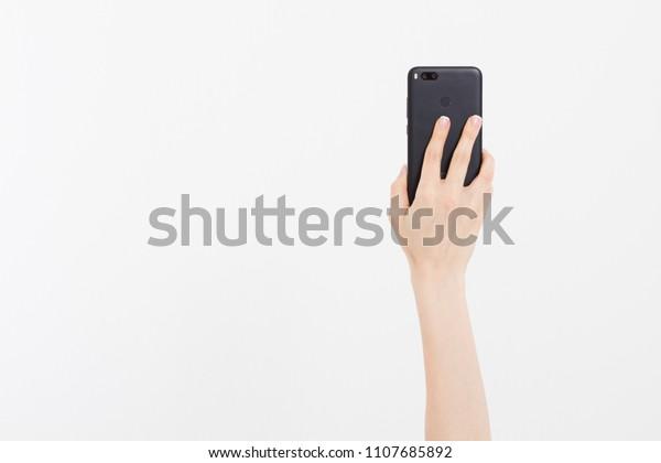 Kievukraine06012018 Xiaomi Mi A1china Gadgetshand Holding