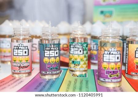 KIEVUKRAINE 14 APRIL 2018 Buy New Tasty Vape Juice Stock Photo (Edit