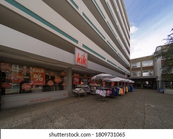Kik shop store front in Germany, Hanover, Germany, 31.8.2020 KIK is a famous brand of cheap shirts and accessories for men and women