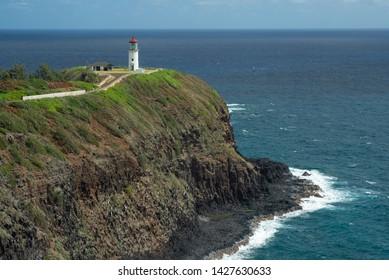 Kilauea Lighthouse Over Pacific Ocean