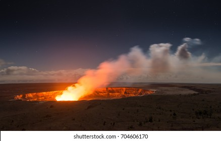 Kilauea Volcano on Big Island, Hawaii
