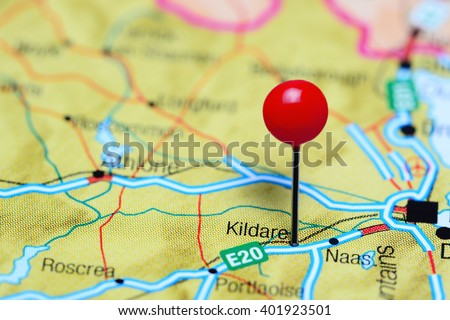 Kildare Pinned On Map Ireland Stock Photo Edit Now 401923501