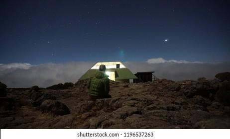 Kilimanjaro Lemosho Route September night skie photos