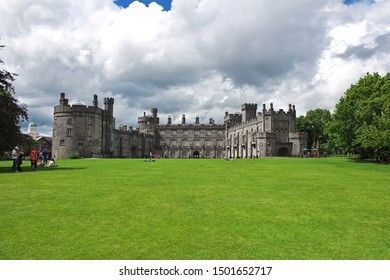 Kilkenny / Ireland - 02 Aug 2013: Kilkenny Castle, the vintage fortress, Ireland