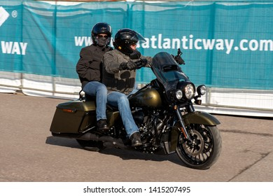 """Killarney, County Kerry, Ireland. 31 May 2019. """"Harley Davidson"""" Bike Fest. Two riders on Harley Davidson. The annual international festival is in its 13th year, attracting bikers from over the world."""
