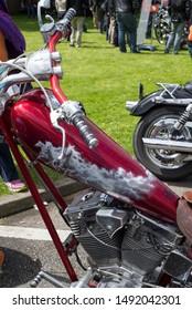 Killarney, county Kerry / Ireland - May 31st 2015: custom bikes at the motorbike show