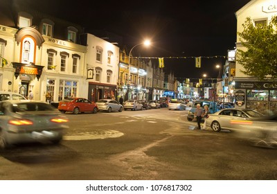 Killarney, Ireland 09/17/2014- A look at the town of Killarney at night in County Kerry