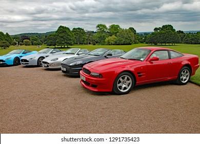 KILLERTON, DEVON - JUNE 2015: A meeting of the Aston Martin owners club