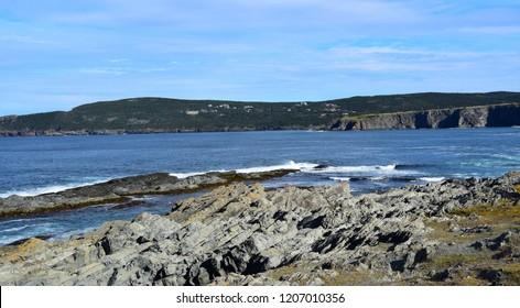Killick coast landscape, seascape near Torbay  view from the Silver Mine Head Path; East Coast trail Avalon Peninsula Newfoundland Canada