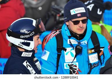 KILLINGTON, USA - NOVEMBER 24: A general view during the Audi FIS Alpine Ski World Cup Women's Giant Slalom on November 24, 2018 in Killington USA.