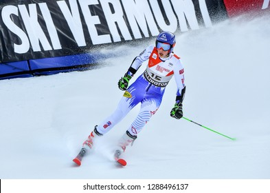 KILLINGTON, VERMONT - NOVEMBER 24: Petra Vlhova of Slovakia competes in the first run of the Giant Slalom at the Audi FIS Ski World Cup on November 24, 2018 in Killington, Vermont.