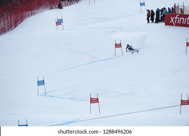 KILLINGTON, VERMONT - NOVEMBER 24: Sara Hector of Sweden competes in the first run of the Giant Slalom at the Audi FIS Ski World Cup on November 24, 2018 in Killington, Vermont.