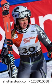 KILLINGTON, VERMONT - NOVEMBER 24: Thea Louise Stjernesund of Norway competes in the first run of the Giant Slalom at the Audi FIS Ski World Cup on November 24, 2018 in Killington, Vermont.