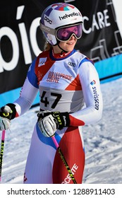 KILLINGTON, VT - NOVEMBER 24: Aline Danioth of SUI after the second run of the giant slalom at the Audi FIS Ski World Cup - Killington Cup on November 24, 2018 in Killington, Vermont.
