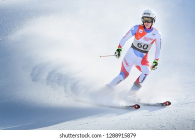 KILLINGTON, VT - NOVEMBER 24: Andrea Ellenberger of SUI after the second run of the giant slalom at the Audi FIS Ski World Cup - Killington Cup on November 24, 2018 in Killington, Vermont.