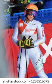 KILLINGTON, VT - NOVEMBER 24: Elena Curtoni of Italy after the second run of the giant slalom at the Audi FIS Ski World Cup - Killington Cup on November 24, 2018 in Killington, Vermont.