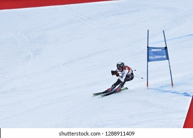 KILLINGTON, VT - NOVEMBER 24: Foreste Peterson of USA after the second run of the giant slalom at the Audi FIS Ski World Cup - Killington Cup on November 24, 2018 in Killington, Vermont.