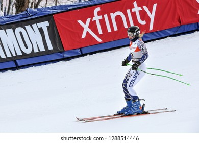 KILLINGTON, VT - NOVEMBER 24: Hrovat Meta of Slovakia after the second run of the giant slalom at the Audi FIS Ski World Cup - Killington Cup on November 24, 2018 in Killington, Vermont.
