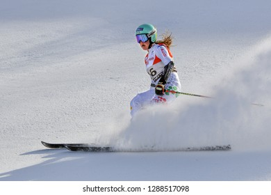 KILLINGTON, VT - NOVEMBER 24: Karoline Pichler of Italy after the second run of the giant slalom at the Audi FIS Ski World Cup - Killington Cup on November 24, 2018 in Killington, Vermont.