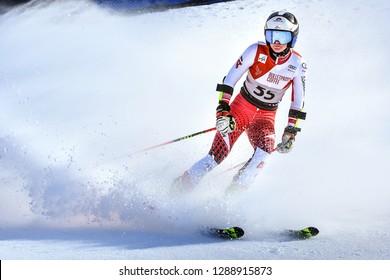 KILLINGTON, VT - NOVEMBER 24: Katharina Truppe of Austria after the second run of the giant slalom at the Audi FIS Ski World Cup - Killington Cup on November 24, 2018 in Killington, Vermont.