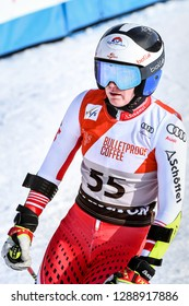 KILLINGTON, VT - NOVEMBER 24: Katharina Truppe of Austria after the second run of the giant slalom at the Audi FIS Ski World Cup - Killington Cup on November 24, 2018 in Killington, Vermont.