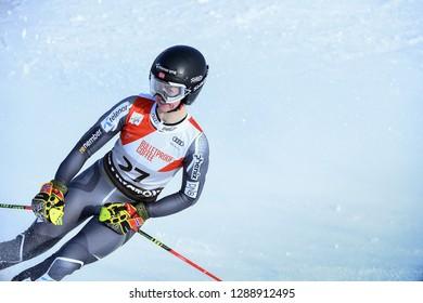 KILLINGTON, VT - NOVEMBER 24: Kristine  Gjelsten Haugen of Norway  after the second run of the giant slalom at the Audi FIS Ski World Cup - Killington Cup on November 24, 2018 in Killington, Vermont.